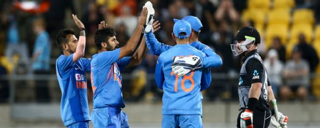 India win the match in super over