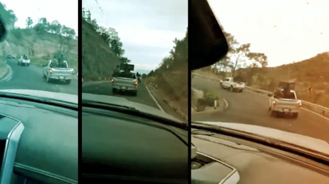 Video: El Mencho ordena a Sicarios salir de Nayarit para pelear en  Zacatecas y regresan por la carretera  en caravana