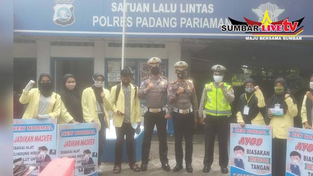 Satuan Lalu Lintas (Satlantas) Polres Padang Pariaman bersama Mahasiswa KKN
