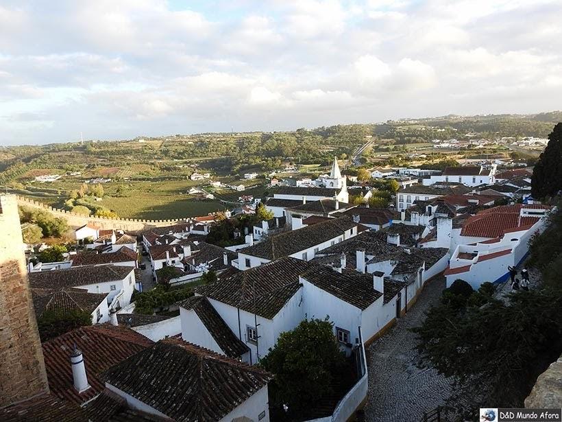 Óbidos vista das muralhas, Portugal