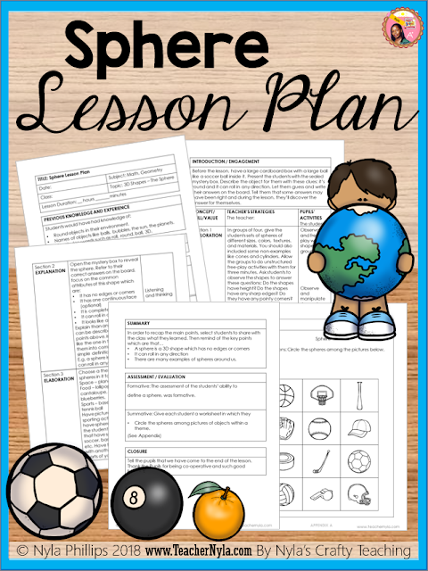 Lesson plan about spheres