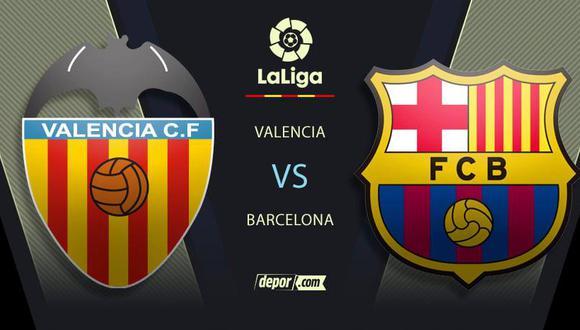 Barcelona vs. Valencia EN VIVO con Lionel Messi: canales de TV y transmisión por LaLiga Santander