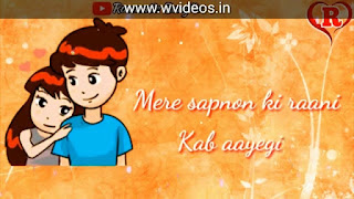 Mere Sapno Ki Rani Whatsapp Status Love Video