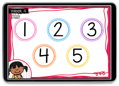 Digital morning work for kindergarten is the perfect activity for a spiral review. It is perfect for in-person learning as well as distance learning!