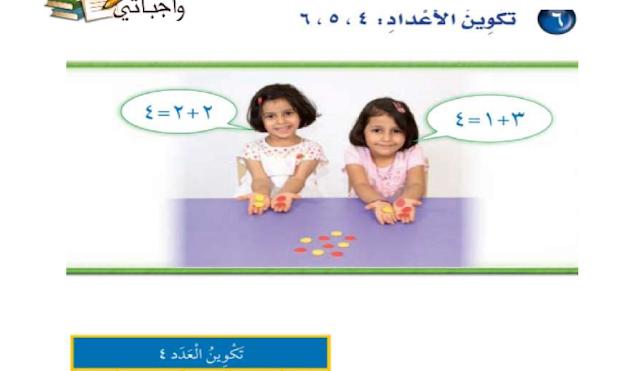 حل درس تكوين الأعداد 4 ،5، 6 الرياضيات للصف الأول ابتدائي