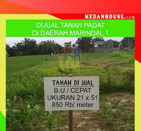 Dijual tanah di marindal 1 Medan, Dijual Cepat Butuh Uang <del>Rp 900Juta </del> <price>Rp. 850 juta </price> <code>tanahdimarindalmedan</code>