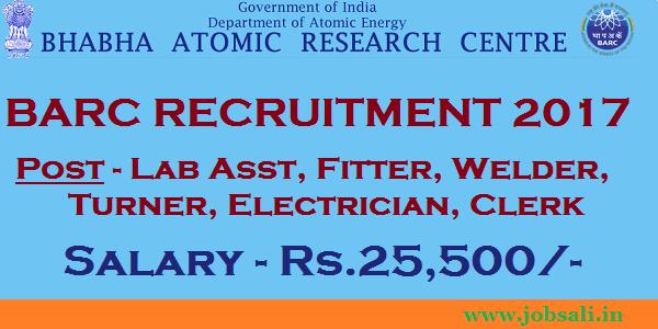 Bhabha Atomic Research Centre Recruitment, BARC Direct Recruitment 2017, BARC Online application