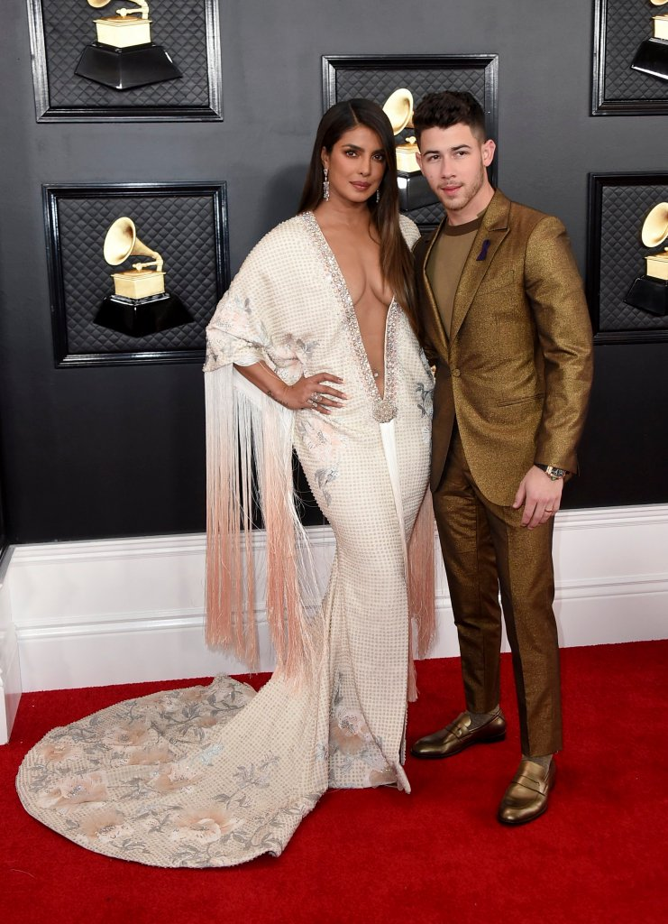 Jonas and Priyanka Chopra attend The 62nd Annual Grammy Awards in Los Angeles, CA
