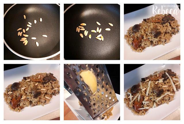 Receta de arroz meloso con setas 03