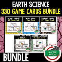Earth Science Game Cards, Test Prep