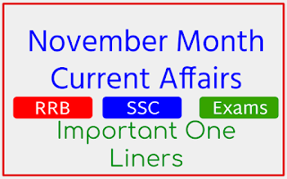 November 2020 Monthly Current Affairs