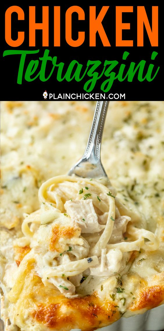 CHICKEN TETRAZZINI #recipes #dinnerideas #foodideas #foodideasfordinnereasy #food #foodporn #healthy #yummy #instafood #foodie #delicious #dinner #breakfast #dessert #lunch #vegan #cake #eatclean #homemade #diet #healthyfood #cleaneating #foodstagram