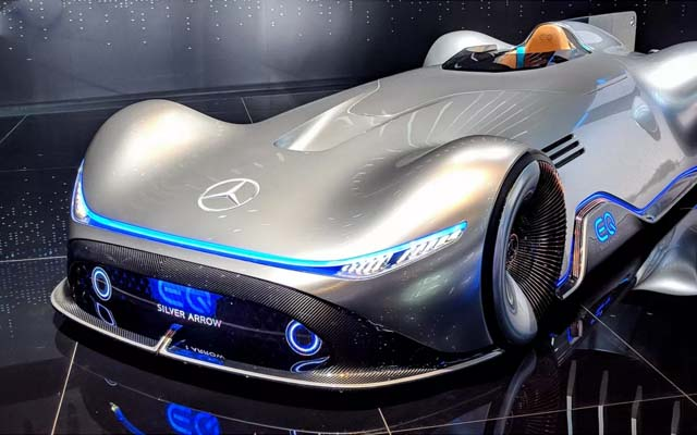 Mercedes' Eq Silver Arrow Blends Classic Design With Electric