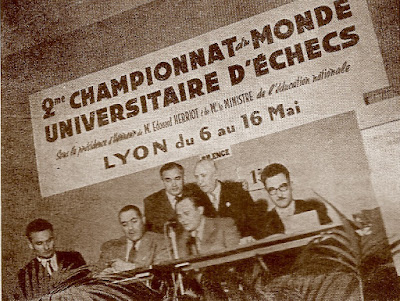 Presidencia del II Campeonato Mundial Universitario de Ajedrez Lyon 1955