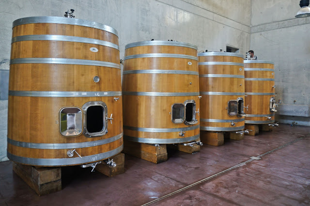 Brunello wine barrels