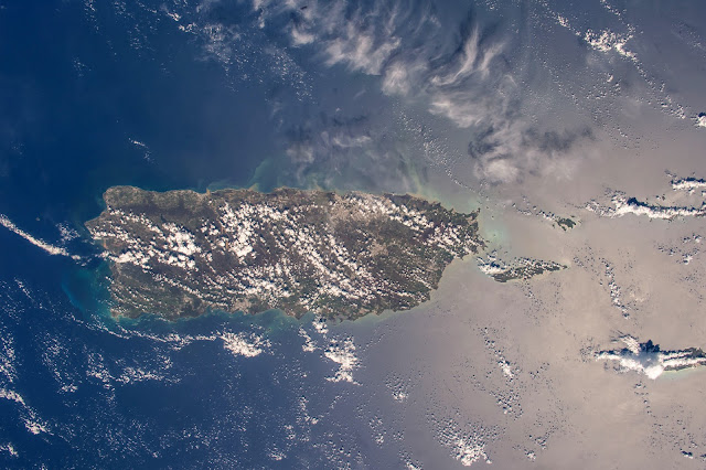 Puerto Rico seen from the International Space Station