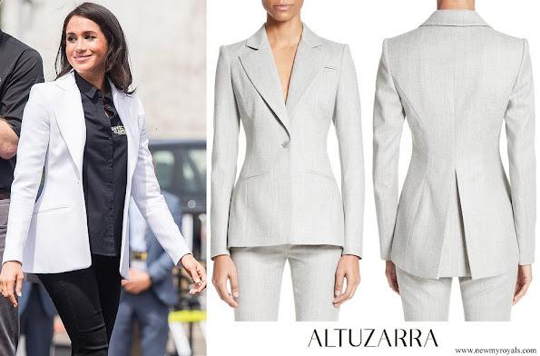 Meghan Markle wore Altuzarra Acacia White Blazer