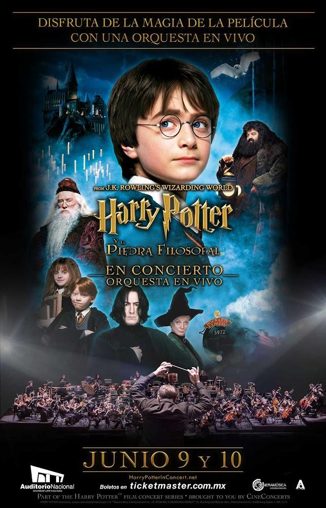 Auditorio Nacional y Generamusica anuncian Harry Potter y la piedra filosofal, en concierto.