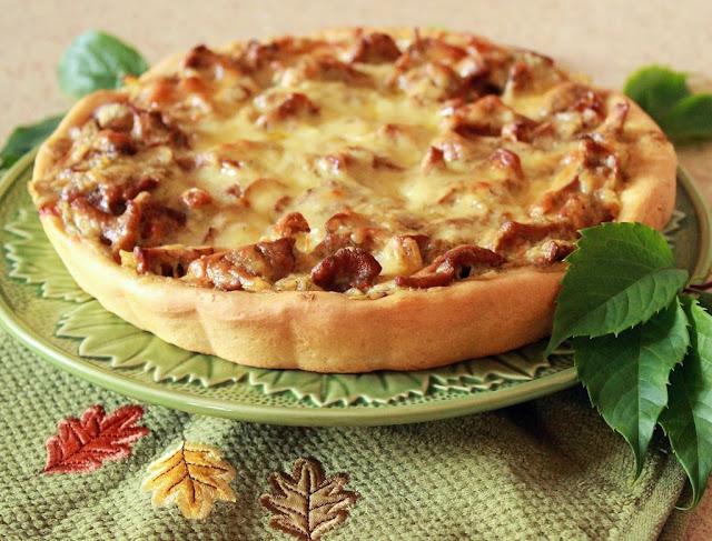 Пирога с лисичками картинка-рецепт