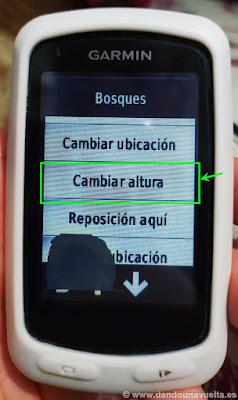 Cambiar altura en GPS Garmin Edge 810