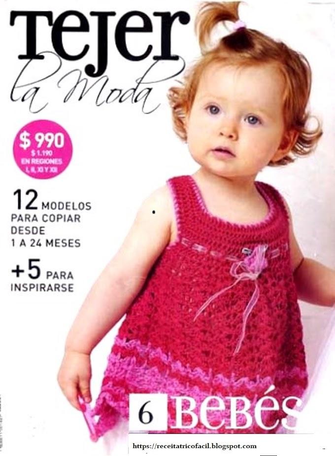 Tejer La Moda -Revista Tricô Para Bebês em Espanhol