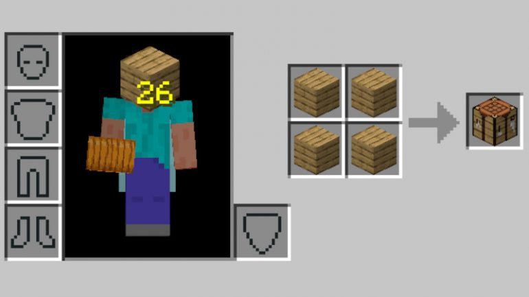 This is what you need for your Crafting Table