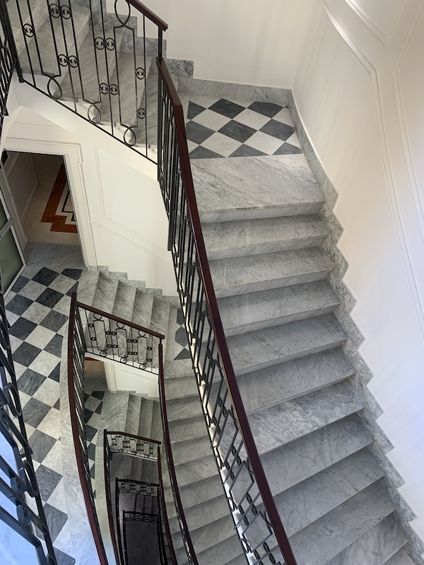 stair detail Hotel Sofitel Villa Borghese Rome-Gillian Longworth McGuire
