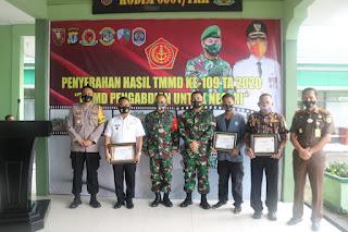 TMMD Resmi Berakhir, Dandim 0907/Trk Serahkan Hasil Pencapaian ke Walikota