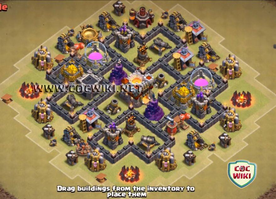 Th6 war base coc best town hall th 6 war bases cocwiki