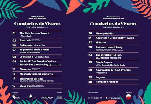 Feria de Julio - Conciertos de Viveros