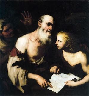 Luca Giordano Socrates and Alcibiades Santippe