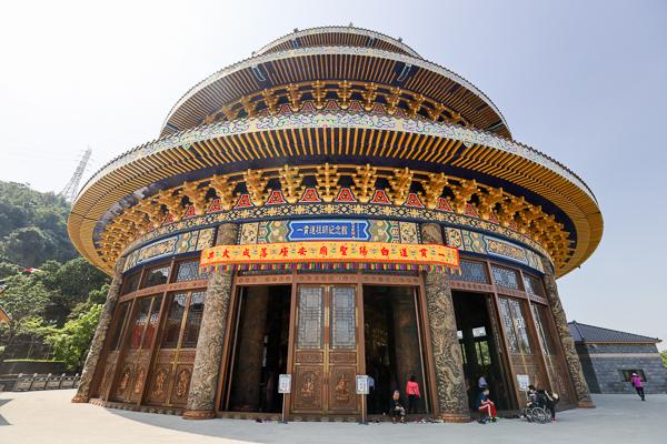 「一貫道祖師紀念館白陽聖廟」世界最高銅鑄圓頂建築天壇在台中