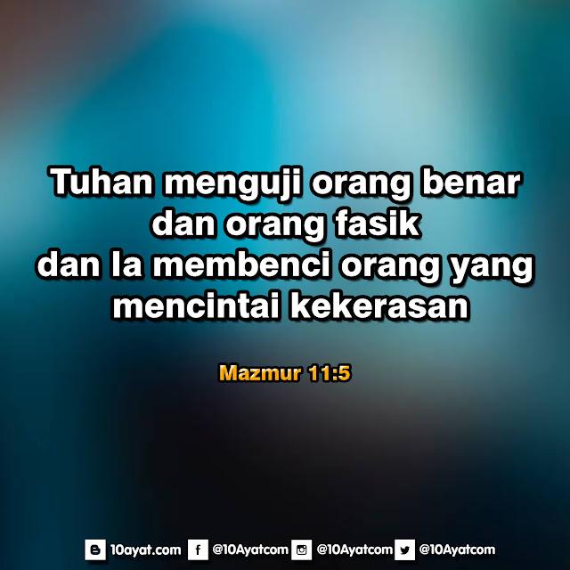 Mazmur 11: 5
