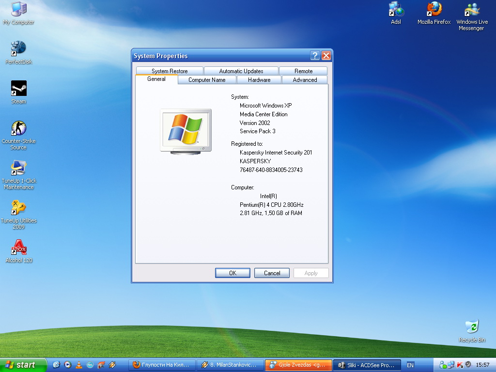 Microsoft windows xp home edition sp3 iso card.