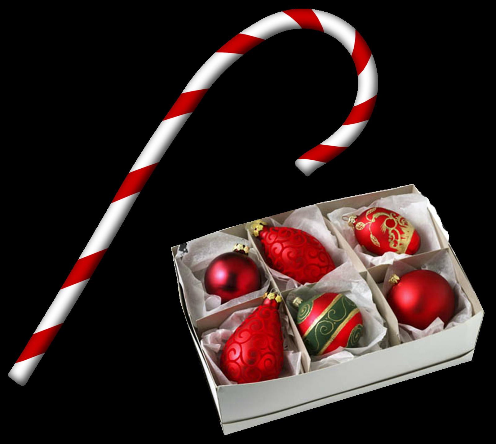 Bastones y regalos de navidad