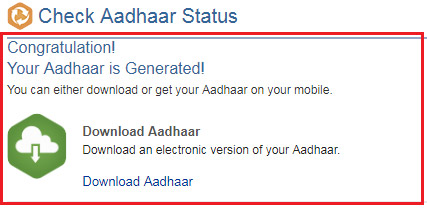 how to check aadhaar status with enrollment number