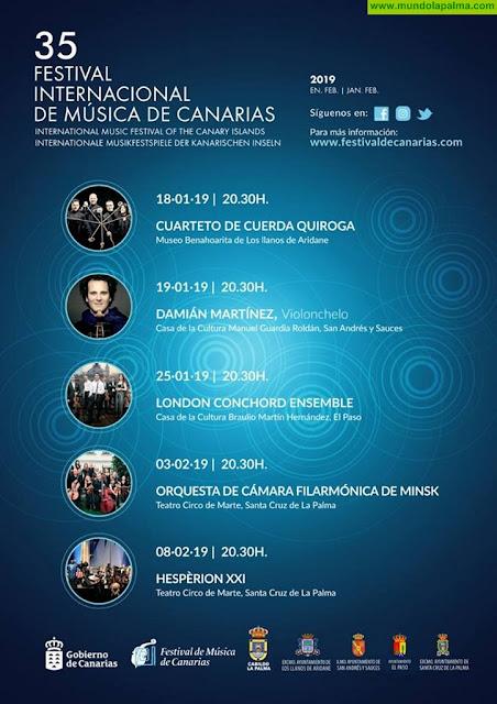 El 35 Festival de Música de Canarias, conciertos en La Palma