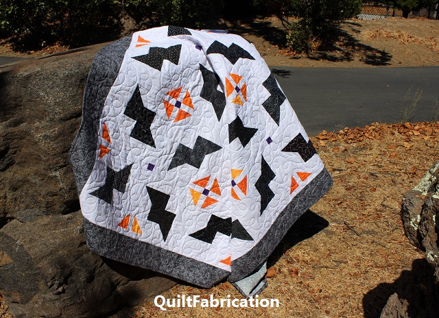 Just Batty quilt in the wild by QuiltFabrication