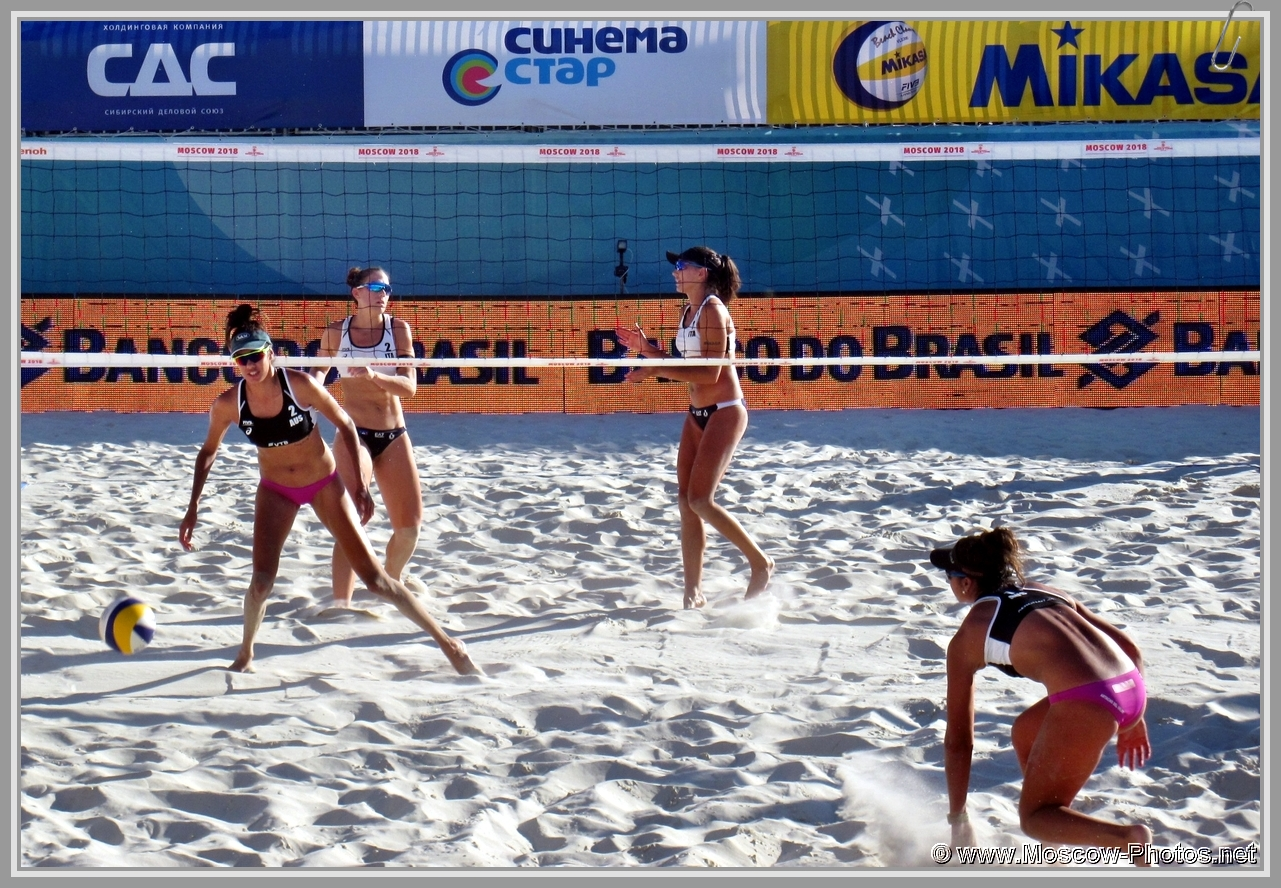 Taliqua Clancy and Mariafe Artacho del Solar at FIVB Beach Volleyball World Tour