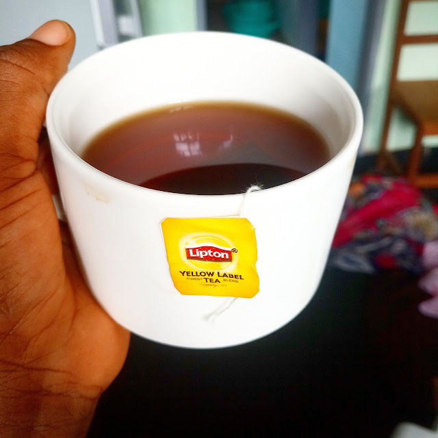 tea, lipton, yellow label, drinking, african, cameroonian, tea cup