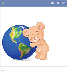 Teddy hugging earth