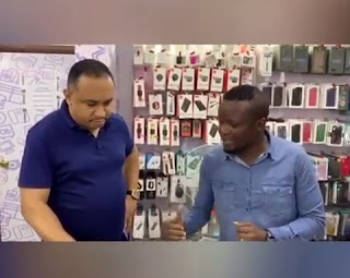 Man Smashed Bobrisky's Iphone 11, Buys Him A New One