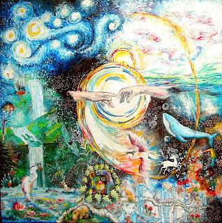 Genesi, la Creazione del mondo. Annapia Sogliani pittrice illustratrice, Genèse, la Création du monde, Annapia Sogliani Artiste peintre illustratrice