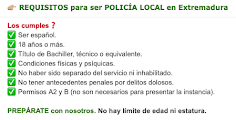 👮🏻‍♂️ Requisitos Policía Local