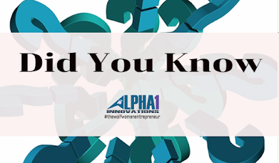 Did You Know? http://alphaoneinnovations.com