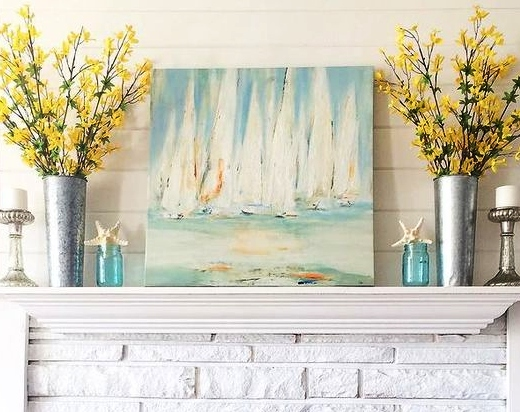 Sailboat Regatta Paintings Art Prints