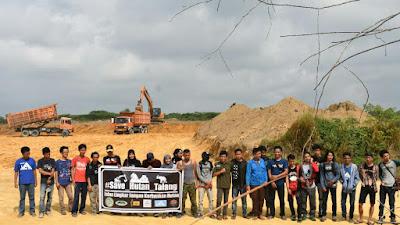Puluhan Aktivis Camping Dijalan Lingkar, Tolak Belah Hutan Talang