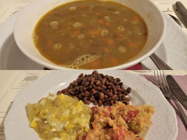 minestra e secondo vegetariano osteria priori