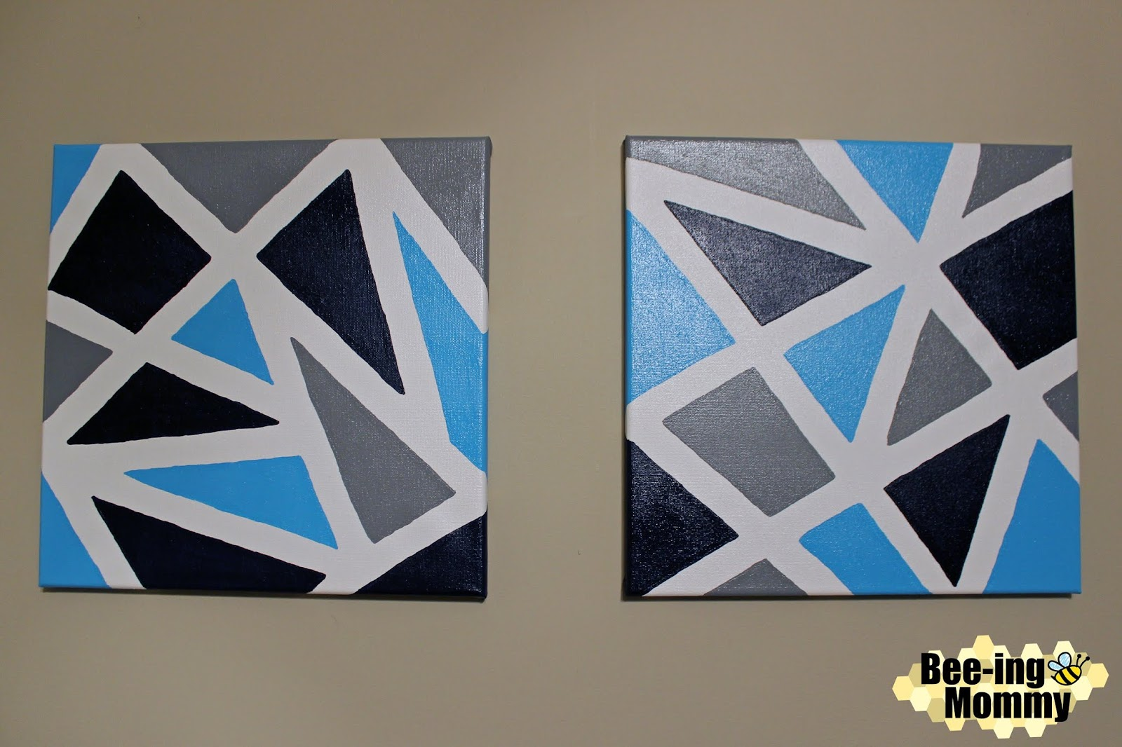 Geometric Wall Decor Using Painters Tape,How To Add Backsplash Tile