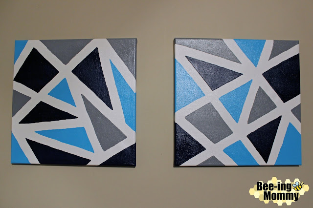 geometric wall decor, geometric wall decor using painters tape, triangle painting, triangle wall decor, wall decor, navy decor, navy wall decor, painters tape, painter's tape art, painter's tape decor, painter's tape painting, painter's tape craft, easy wall decor, DIY wall decor, DIY paintings, DIY painting, geometric painting, geometric art, geometric canvas, triangle painting, navy painting, triangle decor, geometric nursery, geometric nursery decor, nursery decor, wall decor, simple wall decor, navy nursery, navy nursery decor